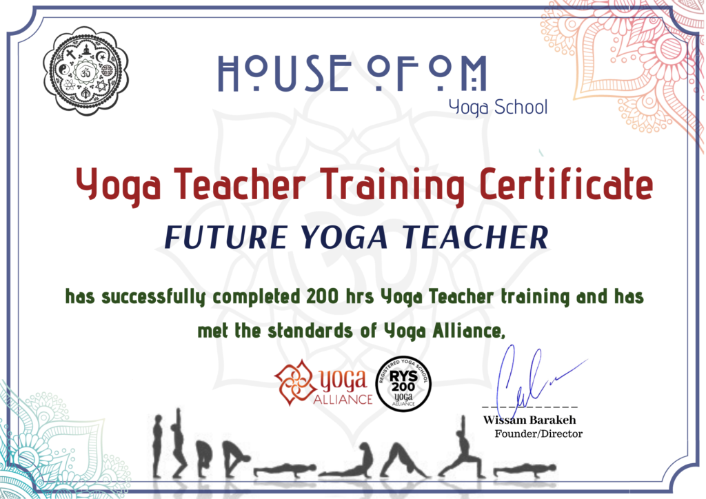 Certification Yoga Teacher Training